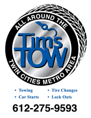 Tim's towing service advertisement