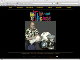 Kenne Thomas - author, musician, recording artist